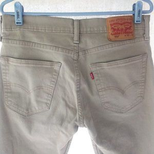 Levis 502 Jeans 32x32 Sand Colored Denim Red Tab